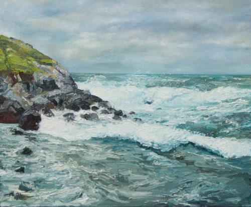 oil painting, Lunning, Shetland