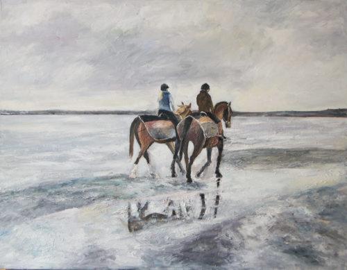 Ölgemälde, Holnis/ Reiterinnen
