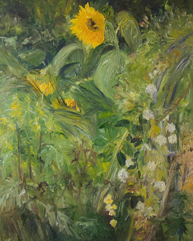 Ölgemälde, Sonnenblumen
